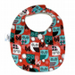 Premium cotton baby dribble bib (hoot)