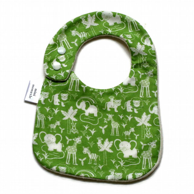 Premium cotton baby dribble bib (jungle)