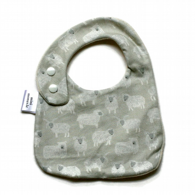 Premium cotton baby dribble bib (baa)