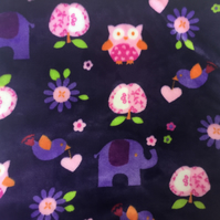 Soft Touch Sensory Cushion Cover - Elephants and Owls