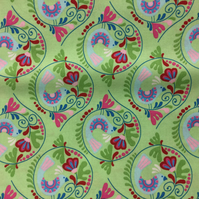 Fabric - Chirpy Lola - Birds and Green