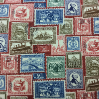 Fabric - Vintage Stamps