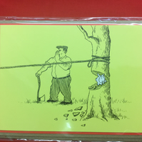 Greeting Card - Bunny and The Woodsman