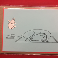 Greeting Card - Bunny and The Sleeping Dog