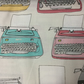Fabric - Typewriters 3.00 Free Postage