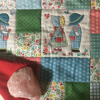 Handmade Cushion Cover - Sunbonnet Sue