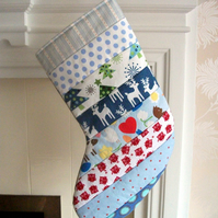 Quilted Stripey Stocking