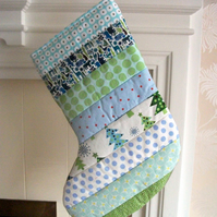 Quilted Stripey Stocking No.6