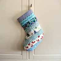 Quilted Stripey Stocking No.17
