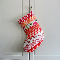Quilted Stripey Stocking No.18
