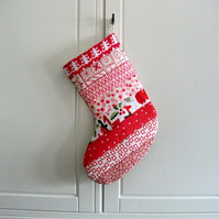 Quilted Stripey Stocking No.19