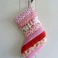 Quilted Stripy Stocking No.23