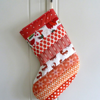 Quilted Stripy Stocking No.25