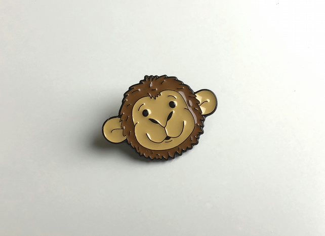 Mortimer Monkey Pin Badge