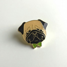 Reginald Pug Pin Badge