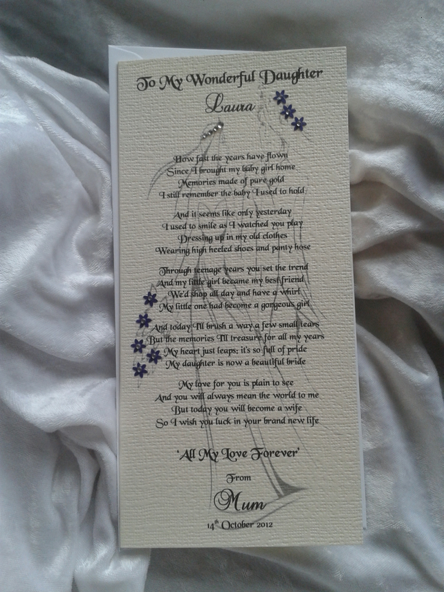 Wedding Poem For Mother From Daughter