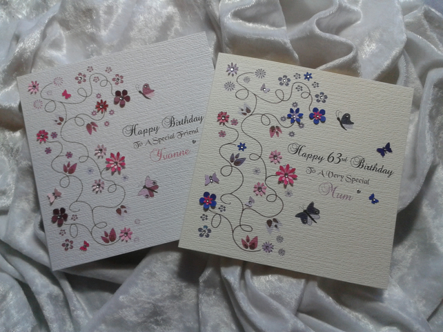 Pretty Personalised Card For Any And All Occasions - the options are endless.
