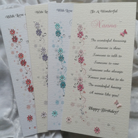 Birthday Card Personalised For Mum Nan Aunt Sister Daughter Granddaughter Friend