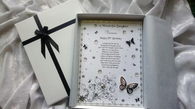Beautiful Butterfly Keepsake Birthday Card Daughter Mum Aunt Friend Gran Nana