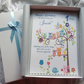 Baby's First Birthday Card Personalised Keepsake with Gift Boxed