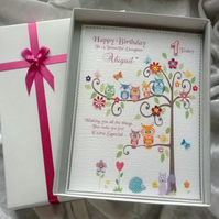 Baby's First Birthday Card Personalised Keepsake 2 designs to choose from