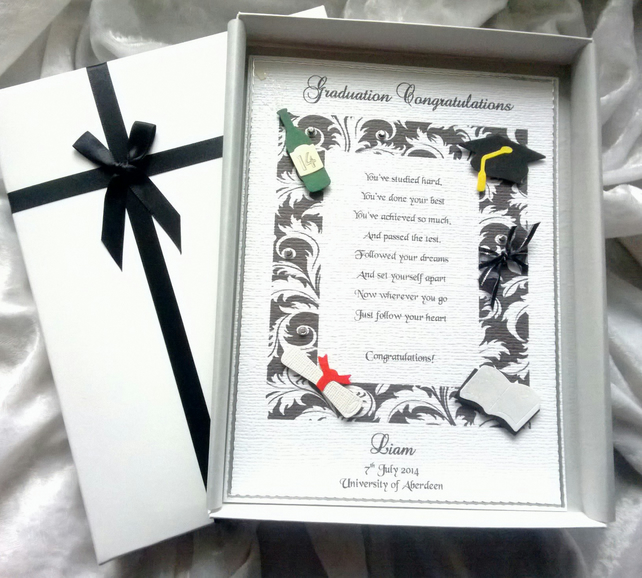 Graduation or Special Achievement Congratulation Card A Personalised Keepsake