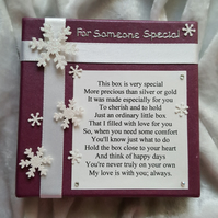 Unique Christmas Gift Stocking Filler Keepsake Poem Little Box Filled with Love