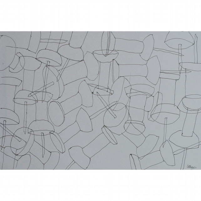 Line drawing of Drawing pins A3