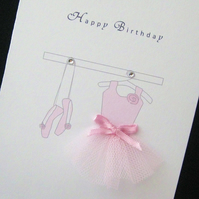 Handmade Birthday Card, Ballerina