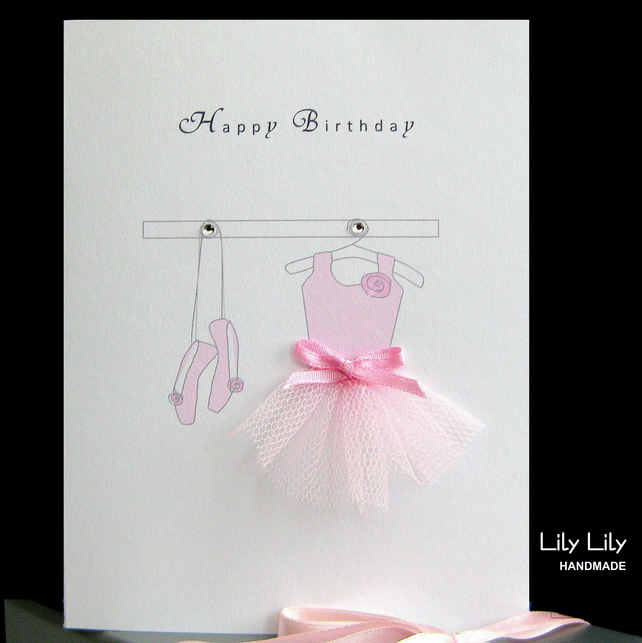 Ballerina Card Personalised Folksy
