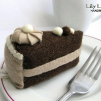 Pin cushion - Chocolate Cake, Felt