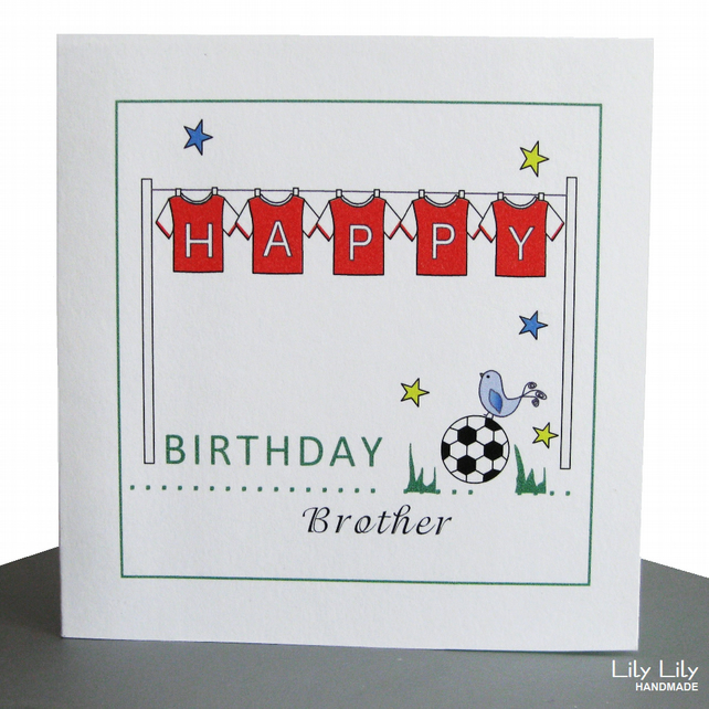 Personalised Birthday Card Football Shirts Folksy