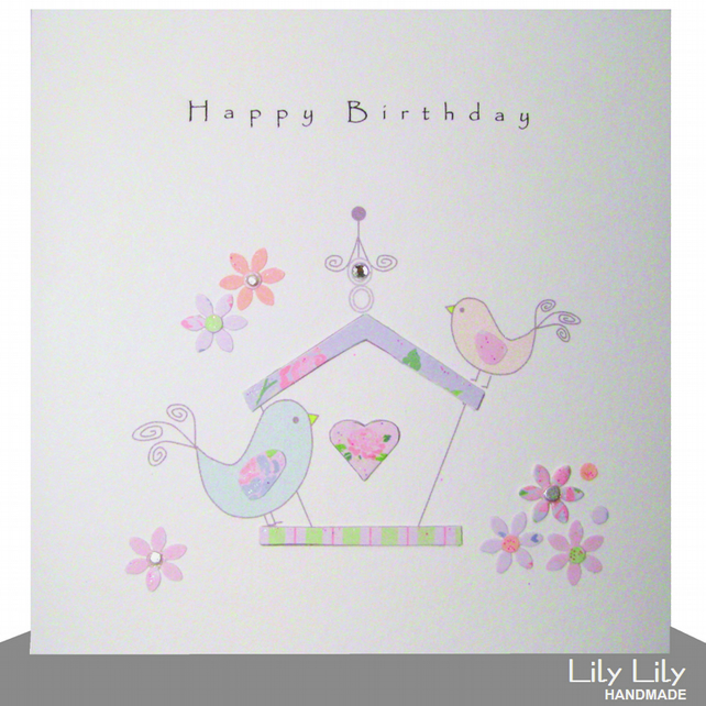 Birthday Card - Birdhouse
