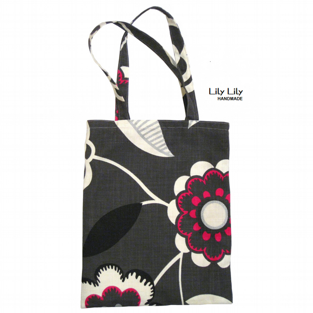 Tote Bag - Charcoal print - Free delivery