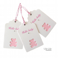 Set of 3 Gift Tags - New Baby Girl