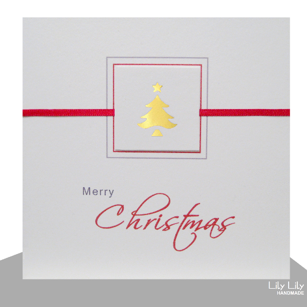 Christmas Card, Christmas Tree (Gold)