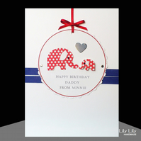 Handmade Personalised Elephant Design - any occasion