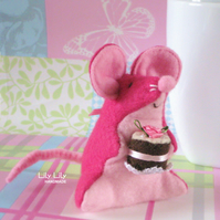 Pin cushion, Mary the Teatime Mouse, Handmade, Collectable