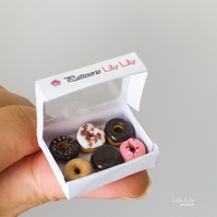 Handmade Miniature Doughnuts, 1:12 scale, miniature art