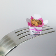Chocolate chip cookies, miniature, handmade, 1:12 scale by Lily Lily Handmade