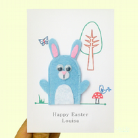 Easter Card, Finger puppet Easter card, Easter Bunny