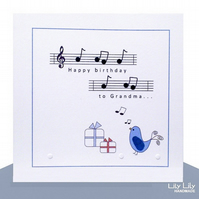 Birthday Card - Grandma Birdsong Music