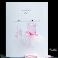 Good Luck Ballerina Card - Personalised