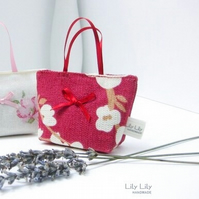Red blossom Lavender Bag, Handmade scented bag