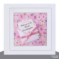Personalised New Baby Card,  Little Note Design, Handmade