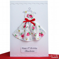 Dress design Birthday Card - Personalised