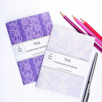 SALE Two handmade notebooks, lace designs SALE