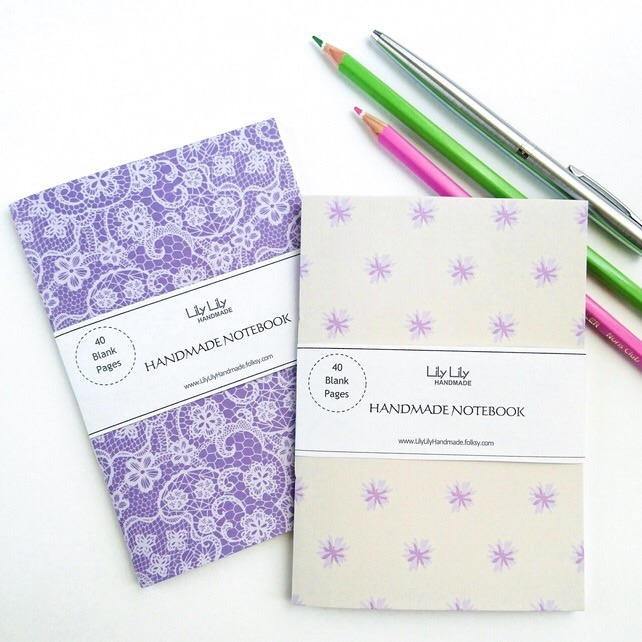 SALE Two handmade notebooks, lace and floral designs SALE