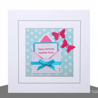 Birthday Card,  Mini Card Design, Handmade, Personalised