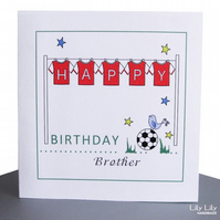 Personalised Birthday Card - Football Shirts